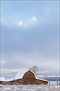 Mormon Barn and Grand Teton In Winter
