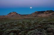 Moonset Over Oregon Buttes
