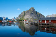 fishing village, Lofoten mountainscape