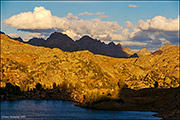 Golden Light Over Lozier Lakes