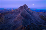 Wetterhorn Peak, blue moon, Matterhorn Peak