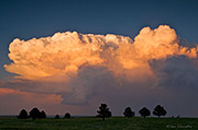 Boulder Open Space and Mountain Parks, James Crain Prairie, anvil cloud