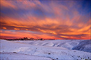 winter sunrise, flatirons