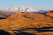 Teton Range Over Red Hills
