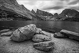 deep lake, wind river mountain range