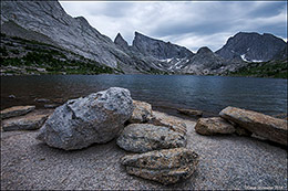 deep lake, wind river mountain range