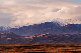 great sand dunes, sangre de cristo, sunset