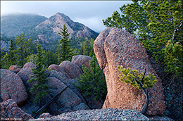Lost Creek Wilderness Area, CO, Tarryall Mountains, granite rock formations
