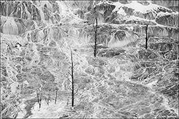 mammoth hot springs, travertine