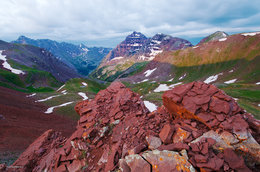 maroon bells, pyramid peak