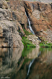 willow creek waterfall, willow lake
