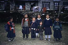Nepali kids, Sagarmatha National Park