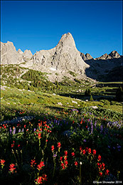 cirque of the towers, wind river mountain range