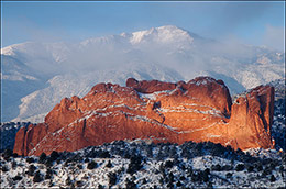 Garden of The Gods, Pike's Peak, Colorado Front Range
