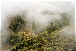 Qonchamarca Ruin Through Mist