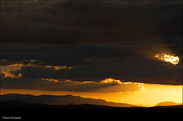 sunset, wyoming range