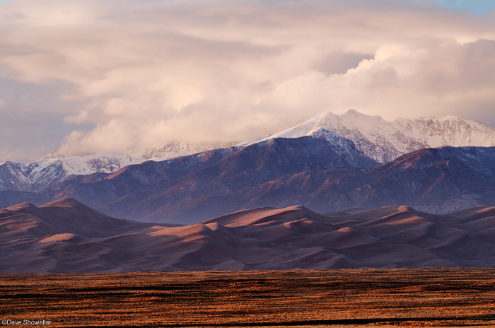 great sand dunes, sangre de cristo, sunset, photo