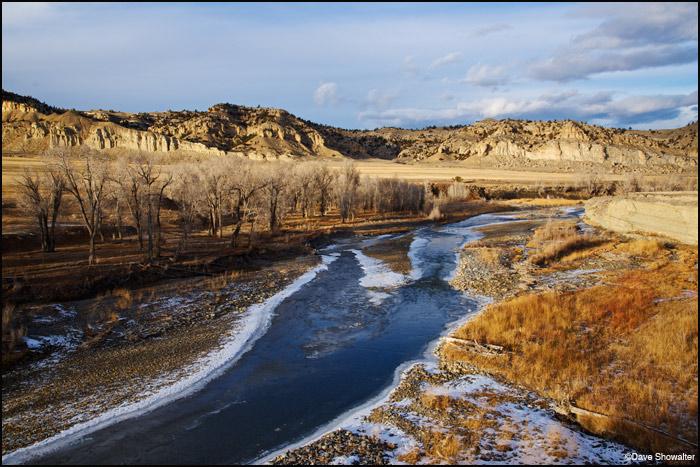 greybull river, meeteetse, photo