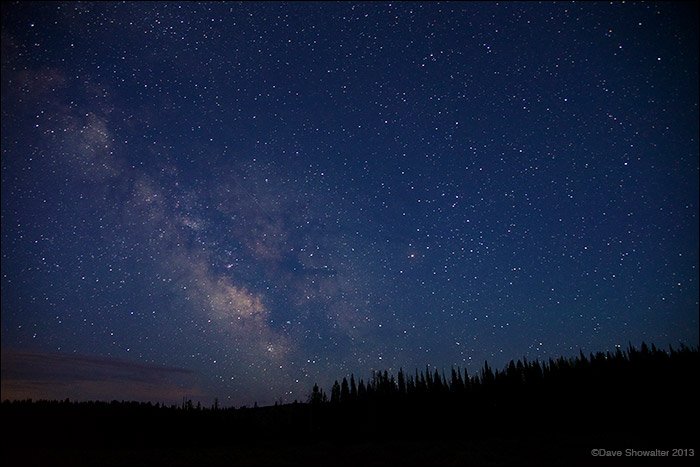 milky way, upper hoback river, photo