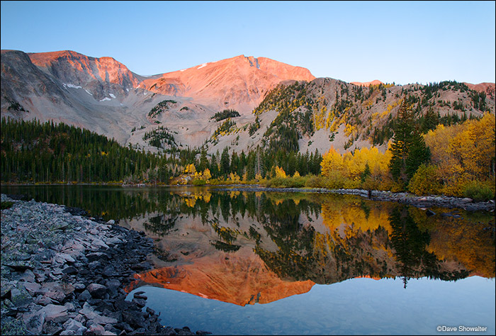 Thomas Lakes, Maroon Bells-Snowmass Wilderness, CO, golden aspen, photo