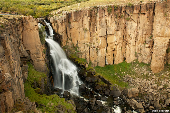 One of Colorado's spectacular waterfalls, North Clear Creek is along the scenbic highway between Creede and Lake City.