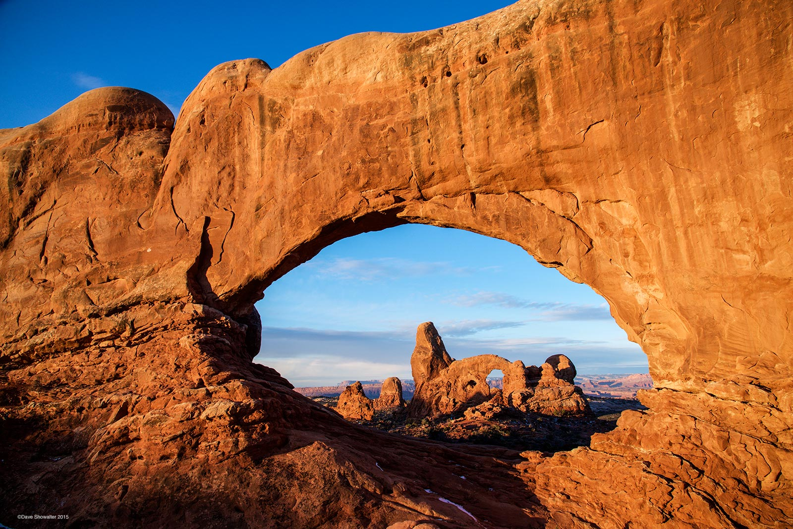 north window, turret arch, photo
