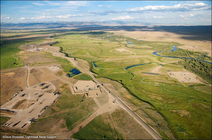New Fork River, fracking, photo