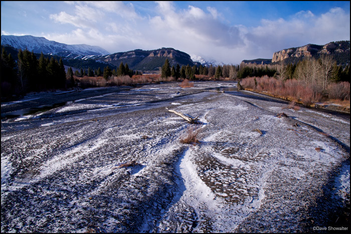An early winter storm passes through Sunlight Basin, leaving a trace of snow and a promise of winter. Sunlight Creek flows...