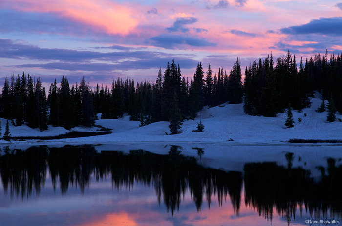 tarn, timberline, photo