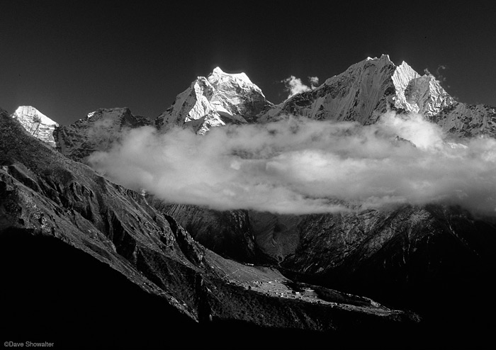 Khumbu, Thamserku, Portse, photo