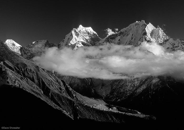 Khumbu, Thamserku, Portse, photo