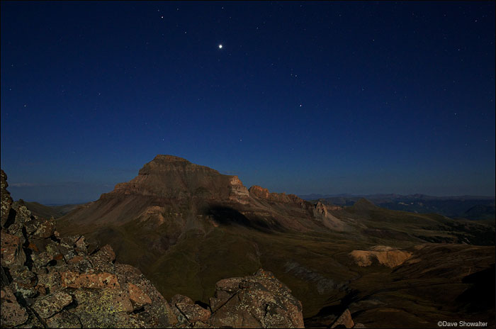 matterhorn peak, moonlight, uncompahgre peak, photo