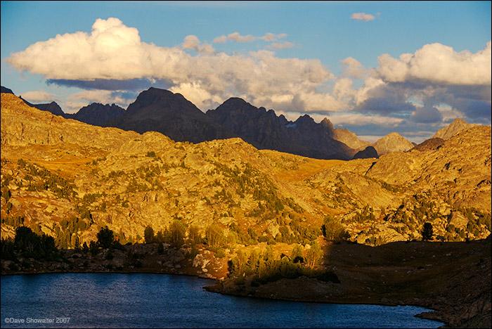 Lozier Lakes, Gannett Peak, Bridger Teton Wilderness, photo