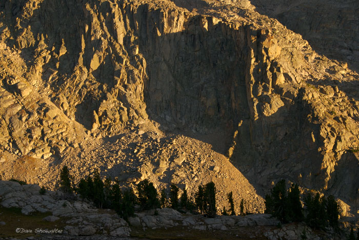 The ruggedness of the Wind River Range is evident in this image above New Fork Canyon. Bridger-Teton national Forest, Wyoming