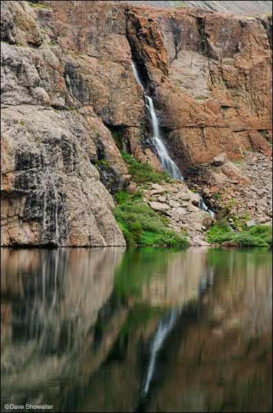 willow creek waterfall, willow lake, photo