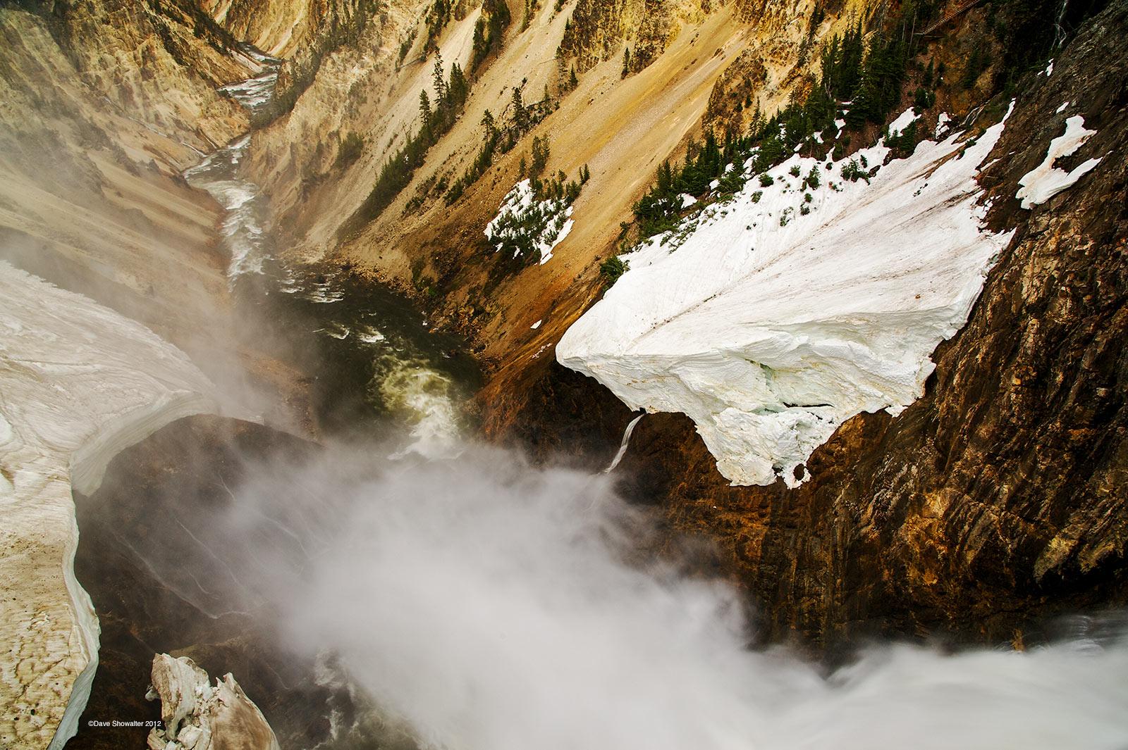 yellowstone river, lower falls, photo