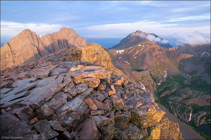Crestone Needle, Crestone Peak, Humboldt Peak, Kit Carson Mountain, photo