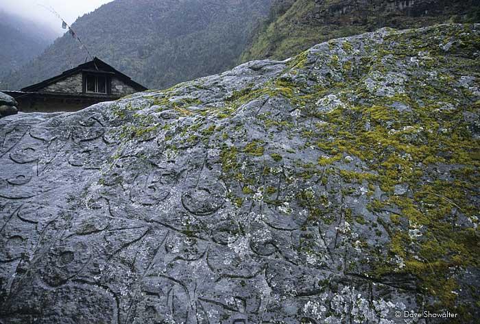 Mani Stone, Namche Bazaar, Nepal, Everest Base Camp, Sagarmatha National Park, photo