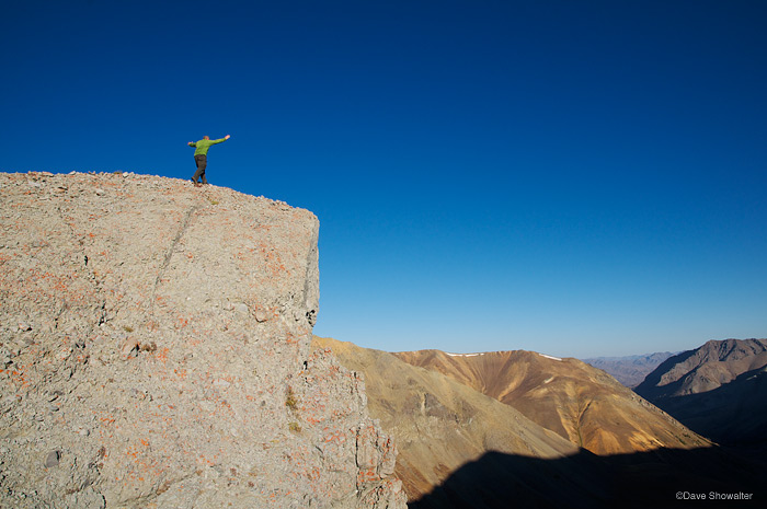 Self expression on Greybull Pass, high in the Absaroka Mountain Range.