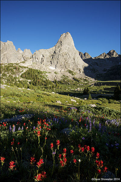 cirque of the towers, wind river mountain range, photo