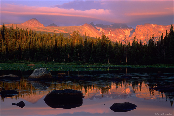 Red Rock Lake, Indian Peaks Wilderness, sunrise, photo