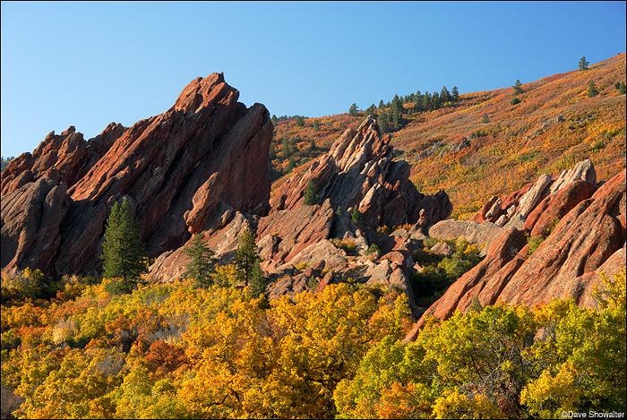 autumn color, Roxborough State Park, photo