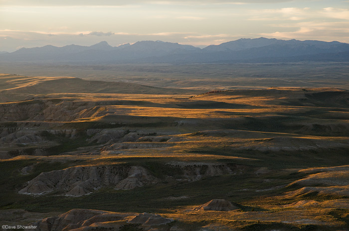 Pacific Butte, in the Jack Morrow Hills, provides the vantage point for this view of sunset light on South Pass and the...