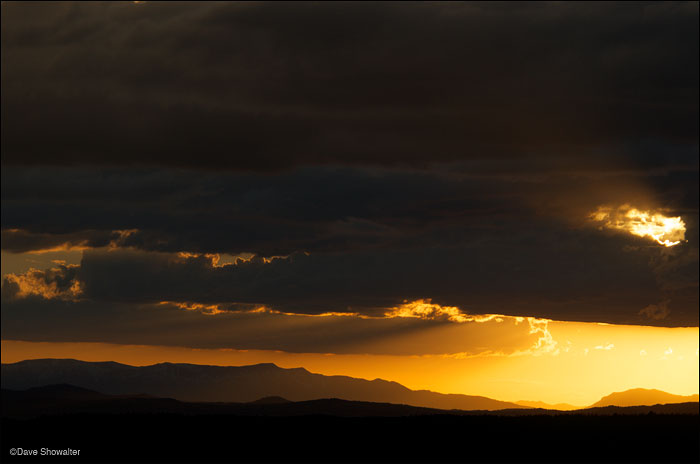 sunset, wyoming range, photo