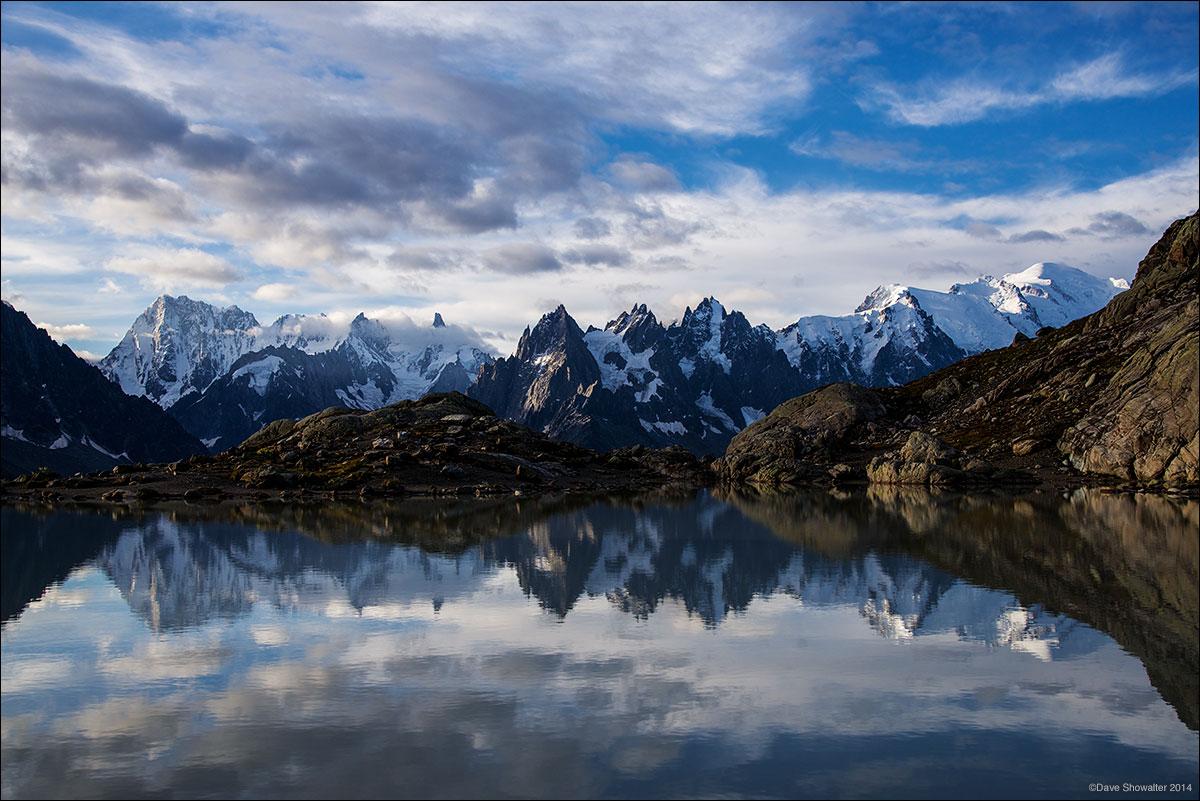 lac blanc, mont blanc, photo
