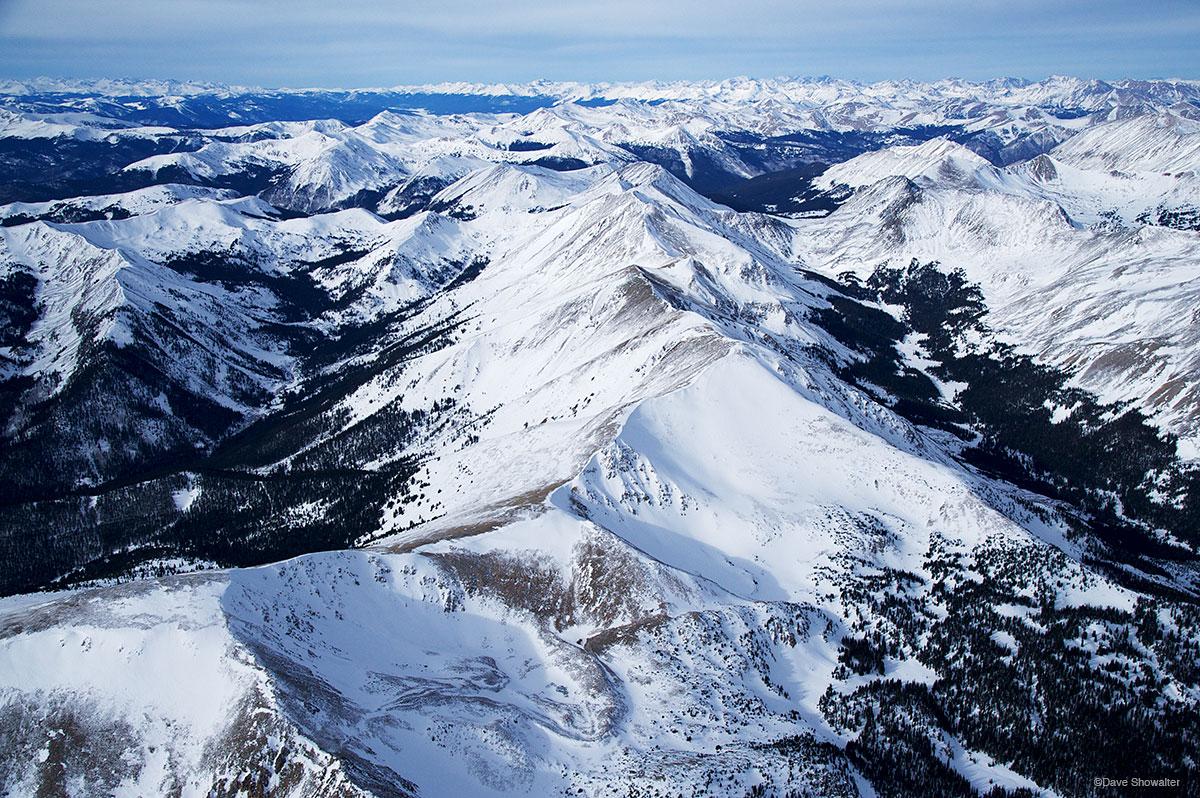 sawatch range, aerial, photo