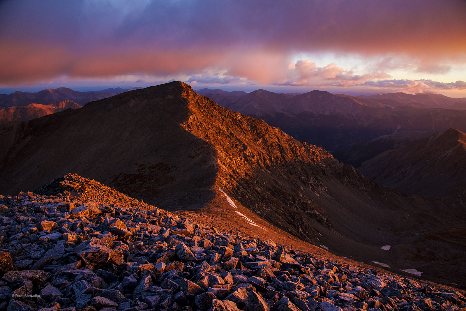 An alpine start around 3:00 a.m. and a steady climb in darkness led us to the summit of Grays Peak (14,267'), where sunrise illuminated...