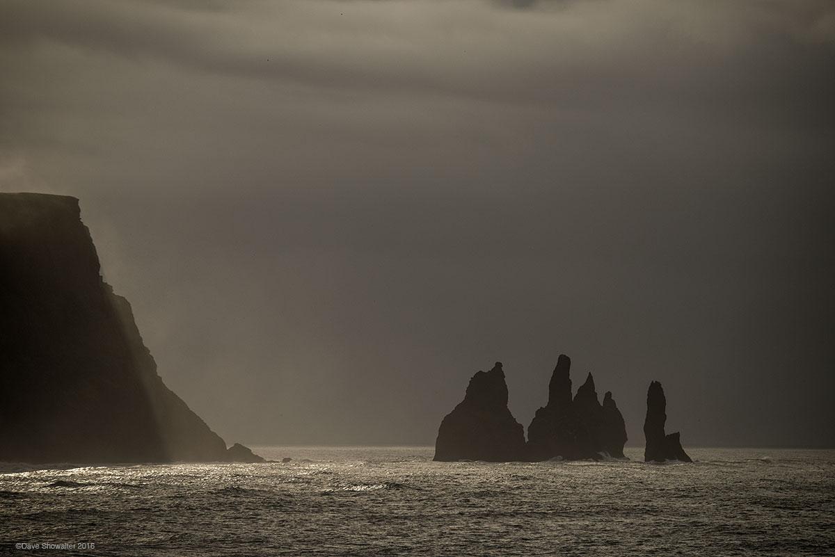 reynisdrangar, sea stacks, photo