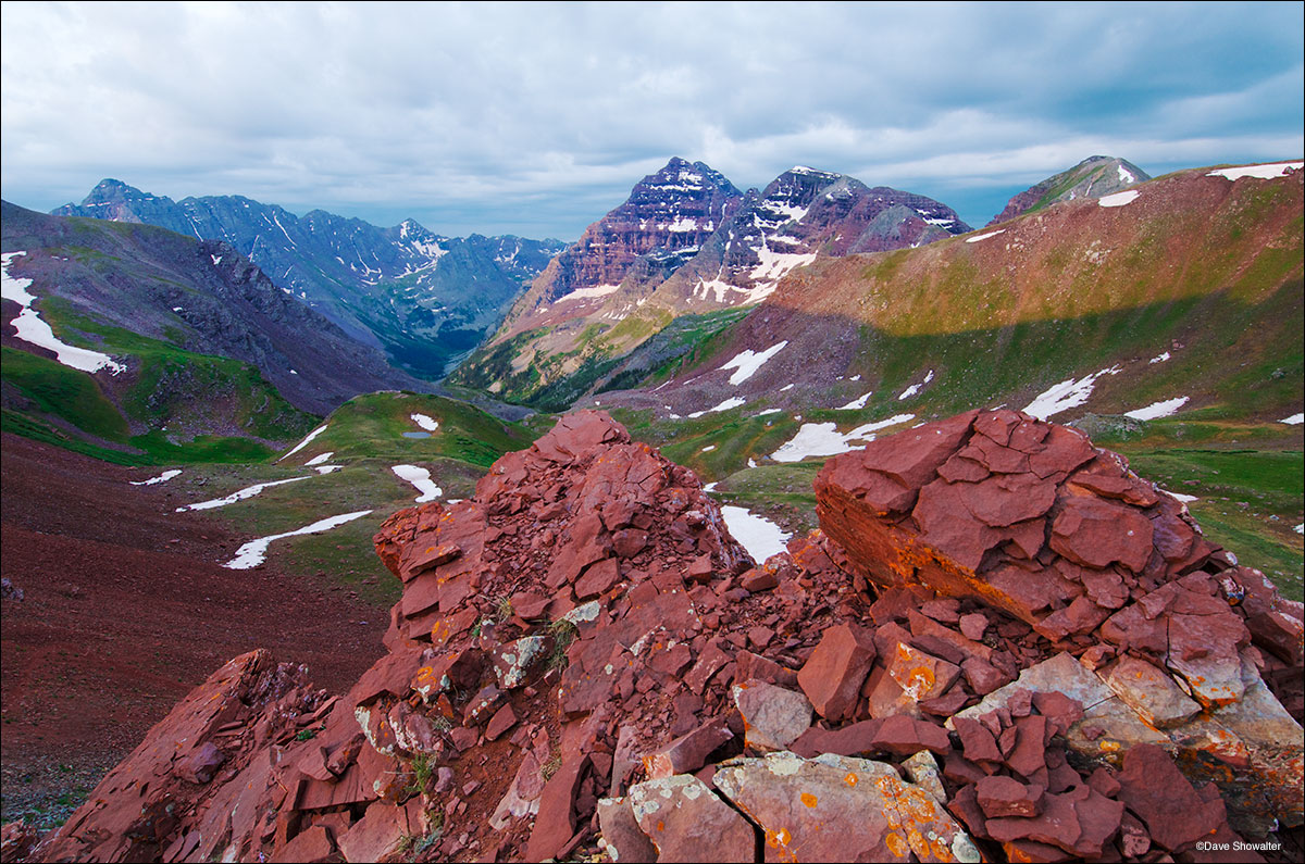 North Maroon Peak, Pyramid Peak, Willow Pass, photo
