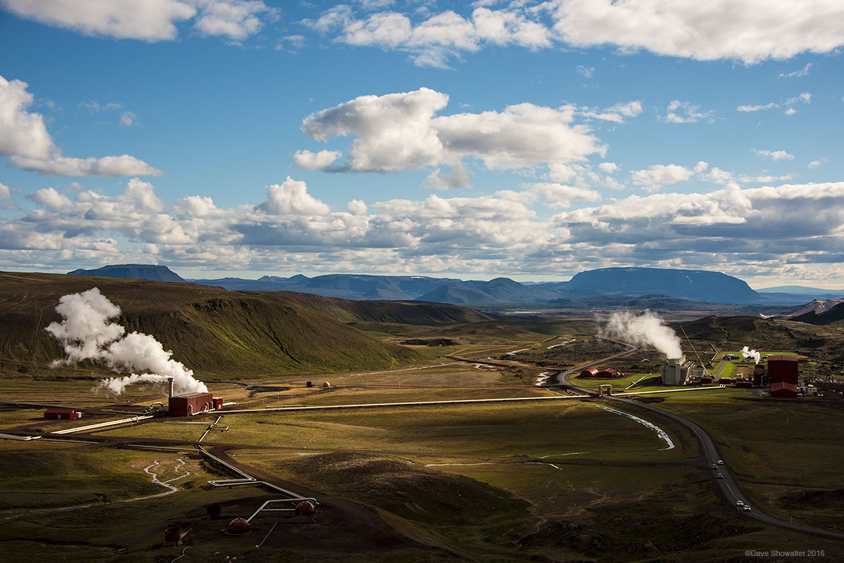Iceland's largest power plant at the Krafla Volcano site, produces GWh of electricity per hour. The country is run almost entirely...